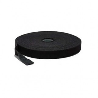 Hook & Loop Cable Tie Roll, Black, 25m
