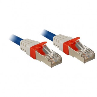 CAT6a SSTP LS0H Patch Cable, Blue, 1m