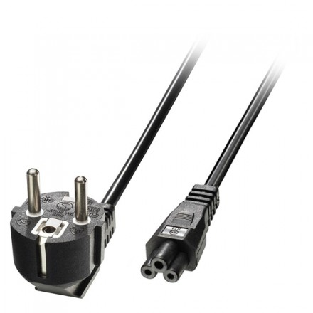 3m Euro Power Cable 3-Pin Plug to IEC C5 Socket
