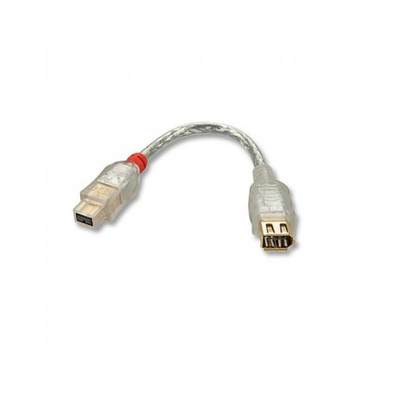 15cm FireWire Adapter Cable, 6P Female to 9P Male
