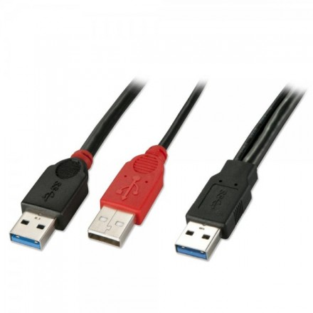 1m USB 3.0 Dual Power Cable