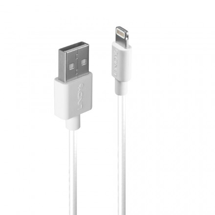 1m USB to Apple Lightning Cable, White