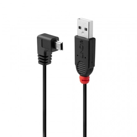 0.5m USB 2.0 Cable, Type A to 90-degree Mini-B