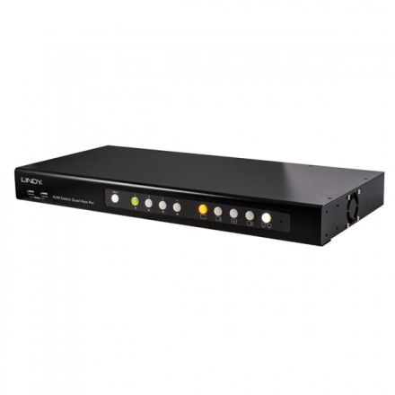 Quad View KVM Switch Pro, DVI, USB & Audio