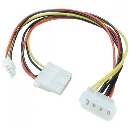 """5.25"""" to 5.25""""+3.5"""" Power Splitter Cable, 25cm"""