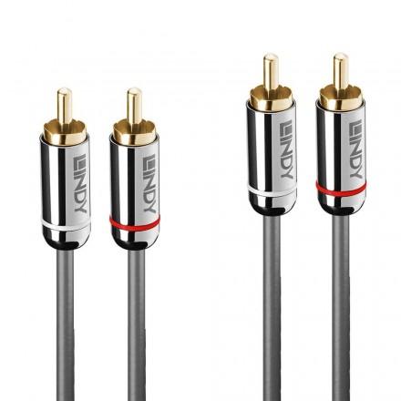 10m Dual RCA Audio Cable, Cromo Line