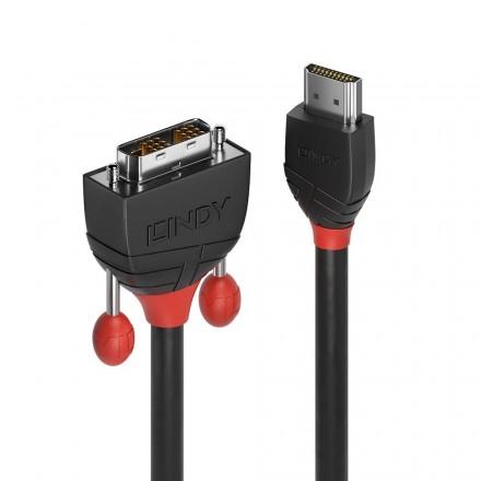 10m HDMI to DVI-D Cable, Black Line