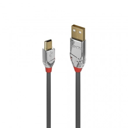 5m USB 2.0 Type A to Mini-B Cable, Cromo Line