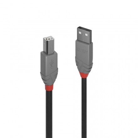 0.2m USB 2.0 Type A to B Cable, Anthra Line