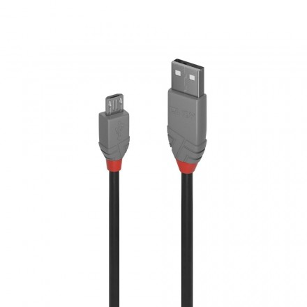 0.2m USB 2.0 Cable, Type A to Micro-B, Anthra Line