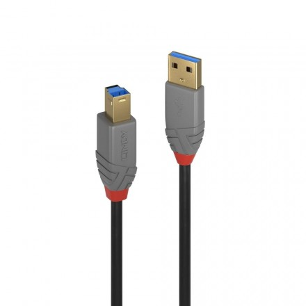 1m USB 3.0 Type A to B Cable, Anthra Line