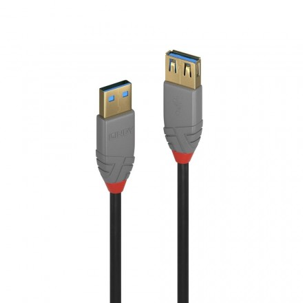 1m USB 3.0 Type A to A Extn Cable, Anthra Line