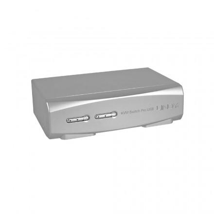2 Port DVI-I Dual Link KVM Switch Pro