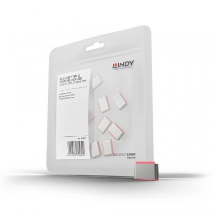 USB Type C Port Blocker, 10 Pack, Pink