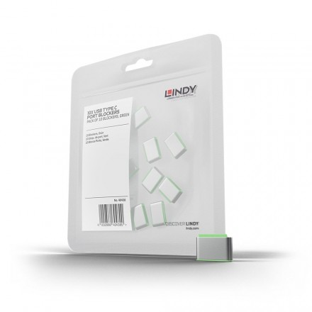 USB Type C Port Blocker, 10 Pack, Green