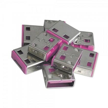 USB Port Blocker, 10 Pack, Colour Code: Red