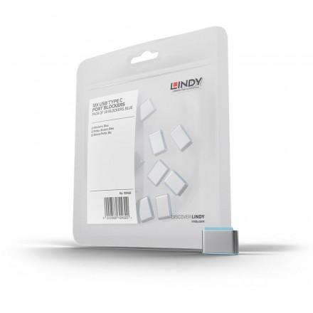 USB Type C Port Blocker, 10 Pack, Blue