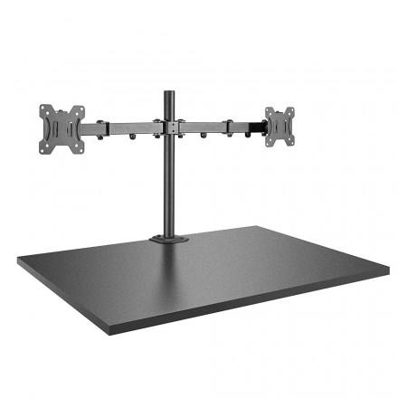 Dual Display Bracket with Pole & Desk Clamp