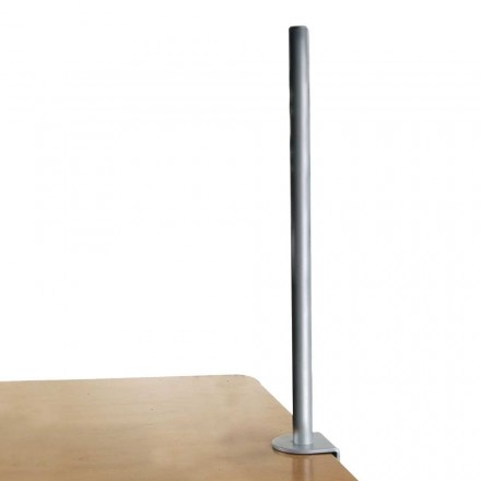 700mm Desk Clamp Pole, Silver (35mm Diameter)