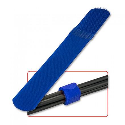 Hook & Loop Cable Tie 175mm, Blue, 10-pk