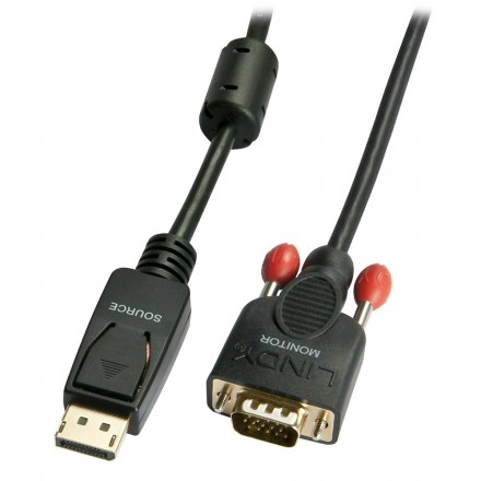 0.5m DisplayPort To VGA Adapter Cable