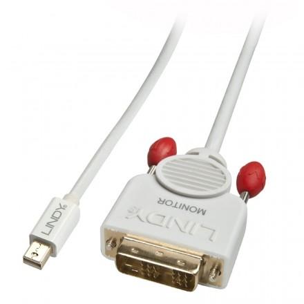 2m Active Mini DisplayPort to DVI-D Cable, White