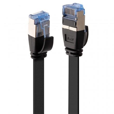 5m CAT6A U/FTP Flat Gigabit Network Cable, Black