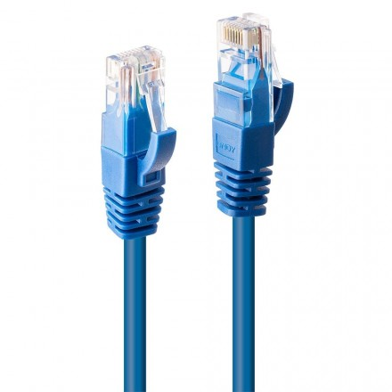 0.3m CAT6 U/UTP Gigabit Network Cable, Blue