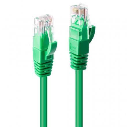 0.3m CAT6 U/UTP Gigabit Network Cable, Green