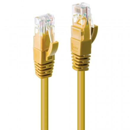 0.3m CAT6 U/UTP Gigabit Network Cable, Yellow
