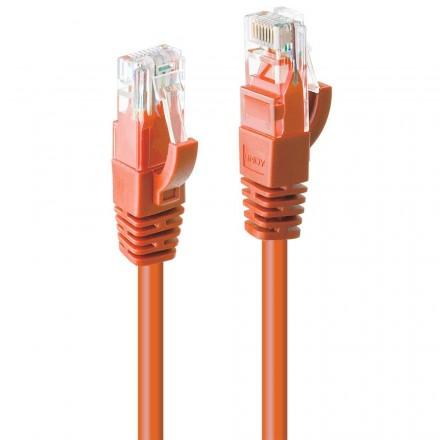 0.3m CAT6 U/UTP Gigabit Network Cable, Orange