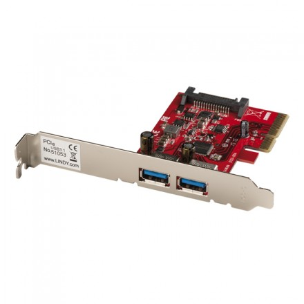 2 Port USB 3.1 Type A Card, PCIe