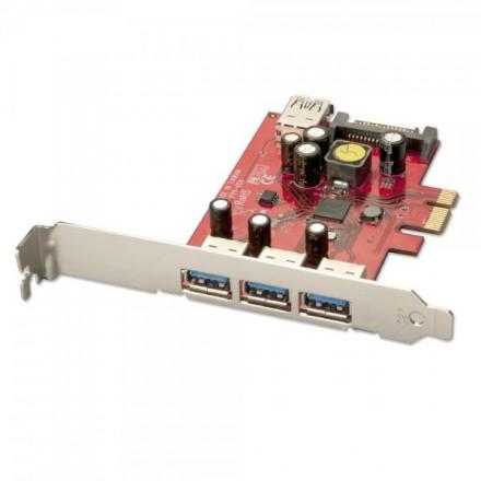 3+1 Port USB 3.0 PCIe Card