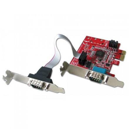 2 Port RS-232 Serial PCIe Card, Low Profile