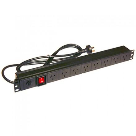 1U x 8-Outlet Horizontal PDU (10 Amp), 3-pin Plug