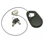 Retractable Security Cable, Barrel Lock