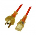 1m Medical Power Cable 3-pin Plug to C13 Socket