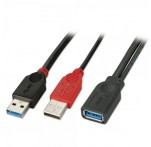 USB 3.0 Dual Power Cable, 0.5m