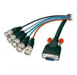 5m Premium SVGA to 5 x BNC Monitor Cable