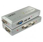 4 Port KVM Switch Compact VGA, USB & Audio