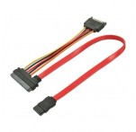 Combined SATA Data & Power Cable, 0.5m