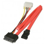 Slimline SATA Data & Power Cable, 0.7m