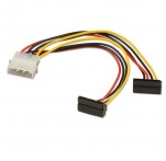2x Right Angle SATA Power Adapter Cable, 15cm