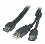 Power over eSATA & USB Type A Cable, 1m