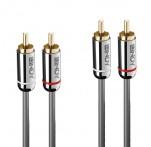 2m Dual RCA Audio Cable, Cromo Line