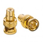RCA Female / BNC Male Adapter, 3-pack