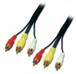Composite Video + Stereo Audio Cable, 3m