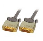 GOLD DVI-D Dual Link Cable, M/M, 0.5m