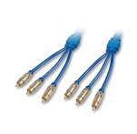 Gold Composite & Component Video (RGB) Cable, 1m