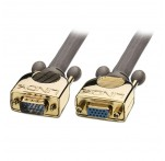 2m Gold VGA Male to Female Extension Cable